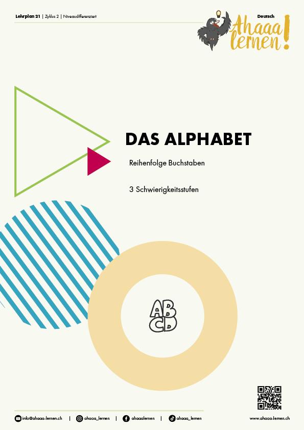 Ahaaa lernen – Das Alphabet Reihenfolge Buchstaben