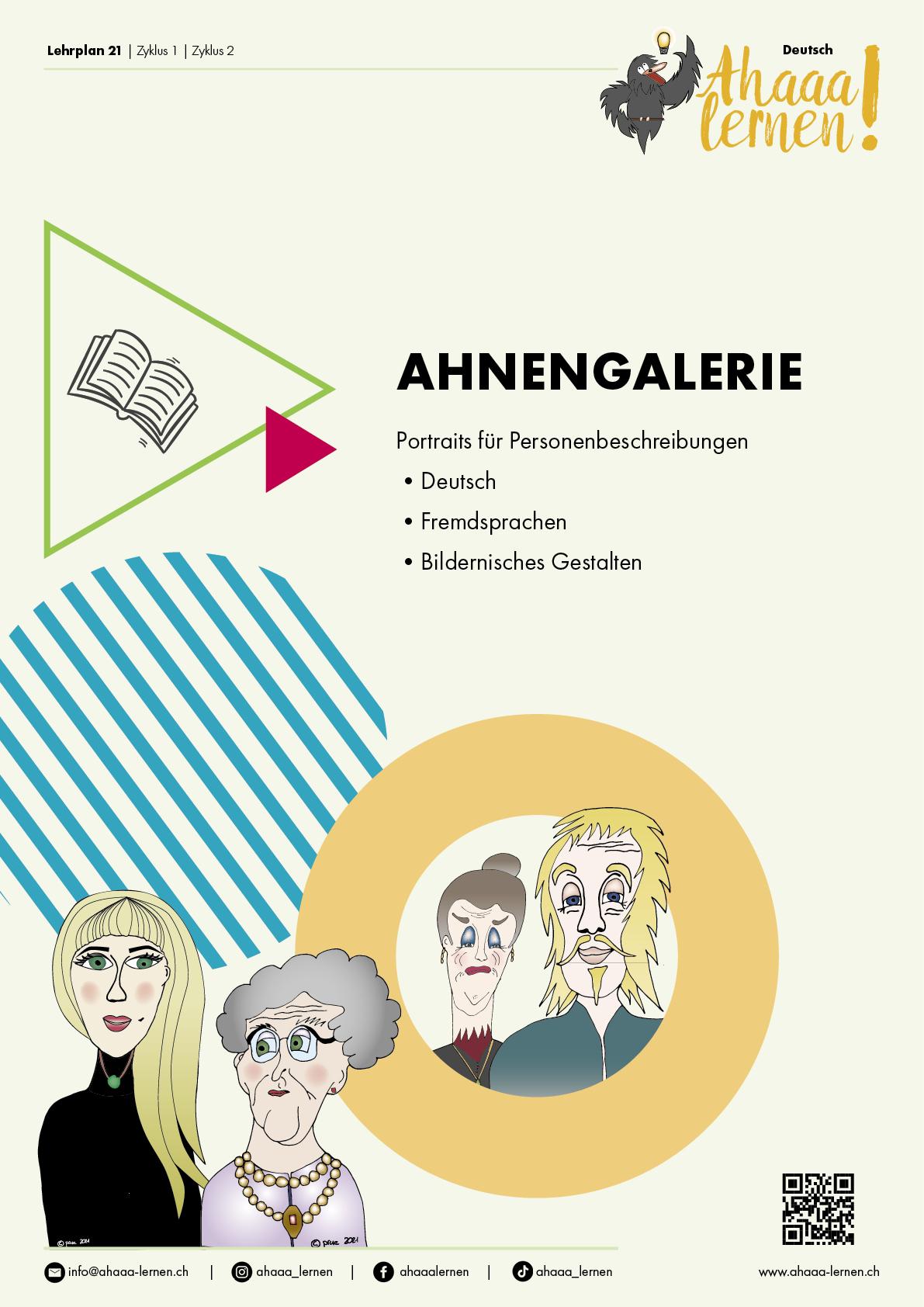 Ahaaa lernen | Ahnengalerie Unterrichtsmaterial | Lehrplan 21