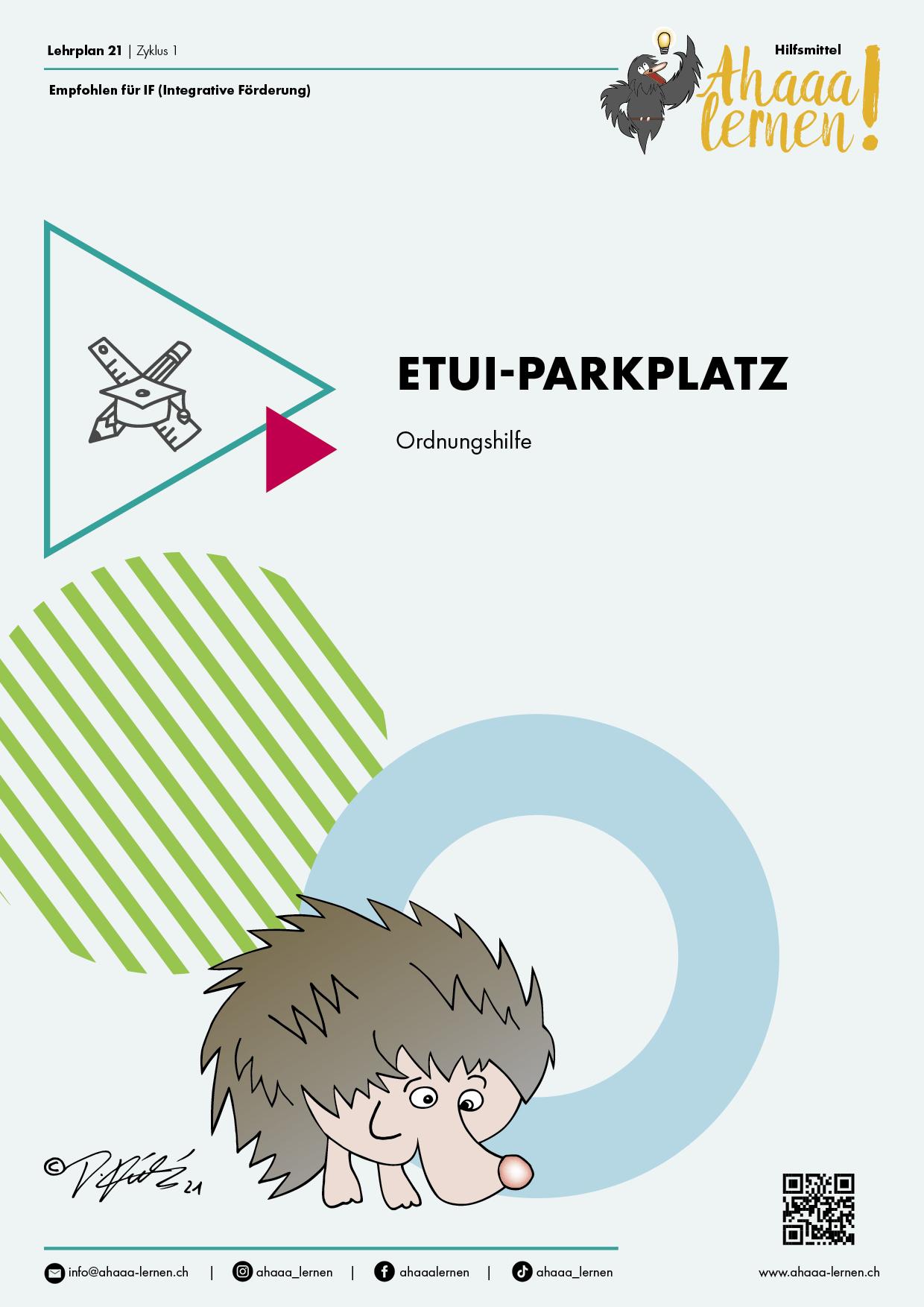 Ahaaa lernen Etui-Parkplatz